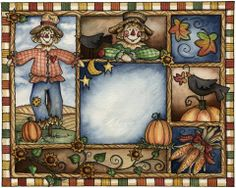 Laurie Furnell Fall Friends, Free Collage, Doodle Borders, Fall Images, Autumn Illustration, Picasa Web Albums, Halloween Clipart, Autumn Art, Card Making Inspiration