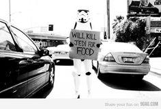 Will kill jedi for food