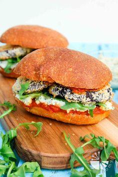 Crispy Eggplant Parmesan Sandwich (vegan) | Vegetarian Gastronomy