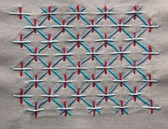 "Sashiko stitching is an elegant and very simple stitching technique dating back to the 1600""s. Originally used to mend and quilt fabrics, we use it now as a decorative stitch. Sometimes called embroidery, sashiko is really a quilting stitch."
