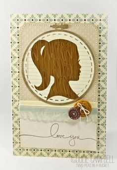 Embroidery Hoop Love Card. No pattern, only supply links.