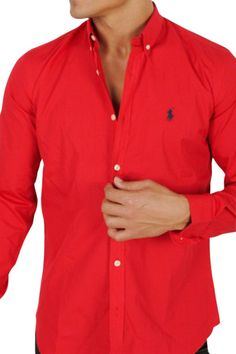 Dress Shirt (Red) from Ralph Lauren Menswear on Brandsfever