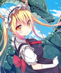 To discuss about the manga and anime Kobayashi-san Chi no Maid Dragon. Anime Chibi, Manga Anime, Dragon Girl, Miss Kobayashi's Dragon Maid, Anime Shop, Kobayashi San Chi No Maid Dragon, Tamako Love Story, Anime Maid, Cute Dragons