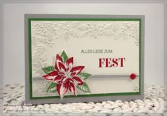 Stampin' Up Weihnachtskarte, Weihnachtswunder, Winterrliche Weihnachtsgrüße
