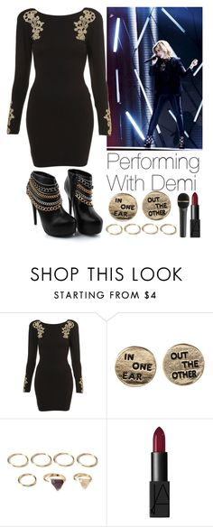 """""""Performing with Demi"""" by lovatic92 ❤ liked on Polyvore featuring moda, Forever 21, NARS Cosmetics, women's clothing, women, female, woman, misses e juniors"""