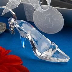 Cinderella shoe/glass slipper keychain favor Fashioncraft…
