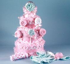 Sweet Sugars Lollipop Baby Girl Diaper Cake #(BGC86)