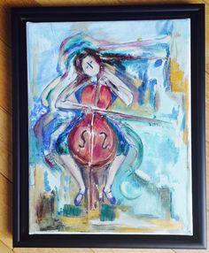 Marthe-Camille a réalisé son autoportrait sur toile et l'a sublimé avec une caisse américaine noire.