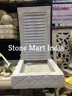 Stone Mart 2 Tire Naturals Tone Fountain For Interior And Exterior Decor.  Buy Natural Stone Fountains For Garden And Home Decor From Stone Mart.