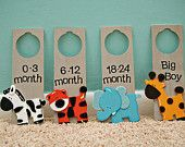 Nursery Closet Dividers. $20.00, via Etsy.