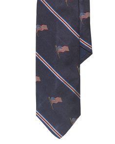 Flag Silk Repp Narrow Tie - Polo Ralph Lauren Ties  - RalphLauren.com