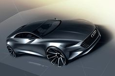 Design Sketches of 2014 Audi Prologue Concept