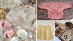 Modelos de punto del suéter del bebé - Patrones Niños suéter de punto