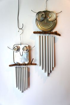 recycled owl chimes