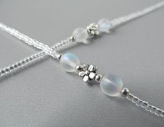 Clear Eyeglass Chains  Transparent  Reading Glasses by HalfSnow, $24.00