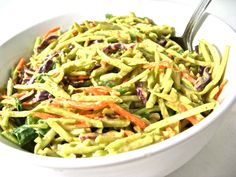 Broccoli Slaw with Honey Mustard dressing with only 38 calories and 1 Weight Watchers Points Plus per serving