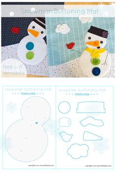 free pattern: Snowman Buttoning Mat from One Crafty Place
