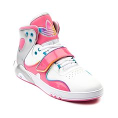 8f8704f38bd Shop for Womens adidas Roundhouse Athletic Shoe in White Pink Rainbow at  Shi by Journeys.