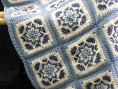 Blue Star Afghan color idea