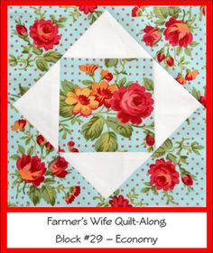 I love the fabric in these cute blocks!