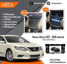 ✦ NIssan Altima Android Full Touch ✦ With Rear View Camera  ✦ With Installation  https://caronic.com/product/nissan-altima-2013-2018-android/ #nissan #altima #audio #stereo #installation #before #after #navigation #gps #cargps #cardvd #carnavi #dubai #clayton #car #dvds #uae