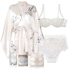 A fashion look from December 2017 featuring silk bath robes, underwear lingerie and face moisturizer. Browse and shop related looks. Cute Lazy Outfits, Cute Swag Outfits, Classy Outfits, Pretty Lingerie, Beautiful Lingerie, Look Fashion, Fashion Outfits, Cute Sleepwear, Lingerie Outfits