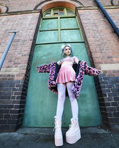 View Leggy leggy leggy long legs By Wearing by Pastel Goth, Pastel Pink, Fashion Moda, Women's Fashion, Buffalo Shoes, Popular Hashtags, Long Legs, Inked Girls, Iris