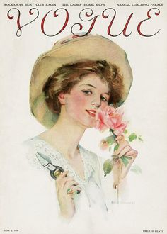 WOW!! Doesn't this look like Princess Diana?! VOGUE 1910... June 1, 1910 magazine issue