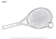Learn How to Draw Tennis Racket and Ball (Other Sports) Step by Step : Drawing Tutorials Learn To Draw, Learn Drawing, Table Tennis Bats, Ball Drawing, Step By Step Drawing, Rackets, Tennis Racket, Easy Drawings, Drawing Tutorials