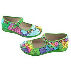 7b7ce36c99a5 Chocolaticas® Bon Voyage Women s Mary Jane Flat. Quirky ShoesMary ...