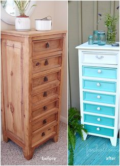 25 Incredible Furniture Makeovers. Love it.