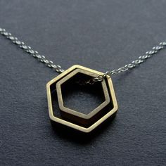 ★ PAIRED HEXAGONS NECKLACE from ANOTHER PLANET #Jewelry