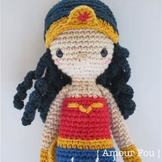 Wonder Woman - Crochet Pattern by {Amour Fou}