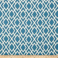 Online Shopping for Home Decor, Apparel, Quilting & Designer Fabric Drapery, Curtains, Blue And White Fabric, Mill Creek, Marine Blue, Valances, Poufs, Headboards, Ottomans