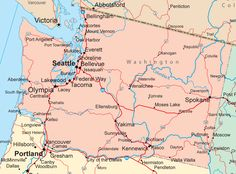Washington state map | state of washington featuring washington s major cities highways and ...