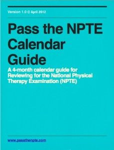 Pass the NPTE Calendar Guide