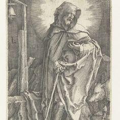 De heilige Antonius, Lucas van Leyden, 1519 - 1523 - Rijksmuseum