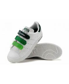 Adidas Stan Smith Womens Velcro White Green Sale Discount Adidas, Adidas  Stan Smith, Running a6245604b71