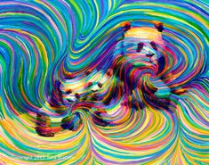 panda psychedelic - Google Search