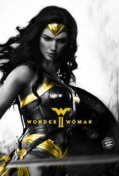 Wonder Woman 2 Poster by Bryanzap on DeviantArt Wonder Woman Drawing, Wonder Woman Art, Gal Gadot Wonder Woman, Wonder Woman Comic, Wonder Women, Marvel Comics, Marvel Dc, Wonder Woman Pictures, Pixar