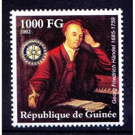 Guinee MNH, Handel, German British Baroque composer, Music, Rotary Club