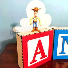 Take a look at our wall decor wooden toy blocks for Toy Story Room or Toy Story Nursery. Vintage wall blocks are the perfect nusery focal point for a Pixar Room.