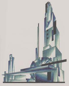 Iakov Chernikhov, Principles of modern architecture, composition 220 Architecture Concept Drawings, Contemporary Architecture, Art And Architecture, Maquette Architecture, Architecture Graphics, Constructivism Architecture, Russian Constructivism, Modern Art Movements, Design Movements