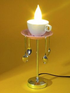 Alice in Wonderland Coffee Cup Table Lamp