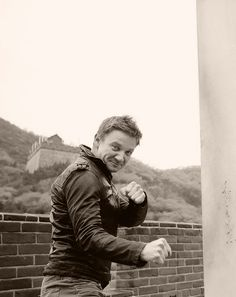 Jeremy Renner  Wanna fight? :)  yes please