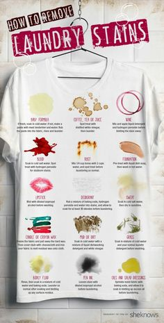 Stain removal guide infographic