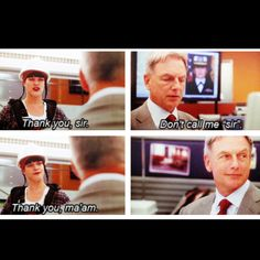 NCIS. One of my favorite scenes. Love Gibbs smile at the end.