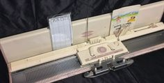 Brother Chunky punch card knitting machine KH 260 for Mohair, alpaca  thick yarn
