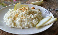 Risotto cremoso con pere e nocciole un primo piatto che vi stupirà troviamo la cremosità la dolcezza e la croccantezza tutto in un unica ricetta!