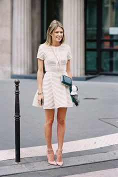 summer style, white dress.